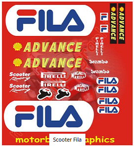 Scooter Fila full decal set
