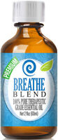 Breathe Essential Oil Blend (100% Pure & Natural) Glass Bottle + Euro Dropper