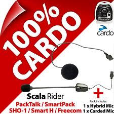 Cardo Scala Rider Boom + Corded Microphone Mic PackTalk SmartPack SHO-1 Freecom