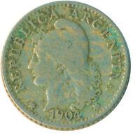 COIN / ARGENTINA / 5 CENTAVOS 1904  #WT6883