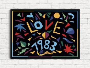YSL 1983 Love Poster, Home Decor