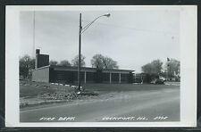 IL Lockport RPPC 1959 FIRE DEPARTMENT STATION COMPANY NO. 1 Will County No.E33E
