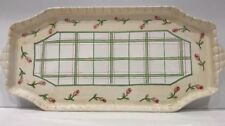 Malveira Casa Fina Hand Painted Floral Serving Platter Signed Made in Portugal