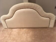 DOUBLE SIZE HANDMADE HEADBOARD UPHOLSTERED IN NEUTRAL BEIGE FABRIC SALE £25.99