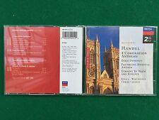 2 CD Musica , HANDEL - 4 CORONATION ANTHEMS , King's Winchester Christ Church