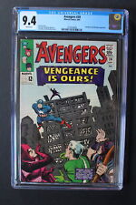 AVENGERS 20 Mandarin Hawkeye Scarlet Witch 1965 2nd Swordsman KIRBY WOOD CGC 9.4