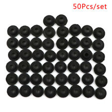 50Pcs/Set Black Silicone Tattoo Needle Rubber Grommets Tattoo Machine Needle Mat