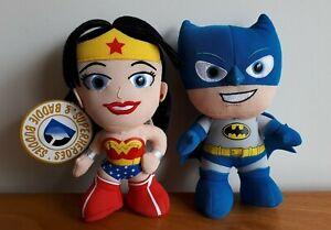 DC Comics Superheroes & Baddie Buddies Plush WonderWoman Batman Stuffed Toy18CM