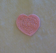 New listing Crochet Light Pink Heart Sewing Appliques Quilting Scrapbooking