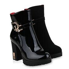 Damen Klassische Stiefeletten Leicht Gefütterte Schnallen 835478 Schuhe