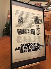 "BIG 11X17 FRAMED TED NUGENT ""1978 USA TOUR"" LP ALBUM CD PROMO AD- CONCERT DATES!"