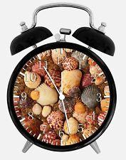 "Sea Shells Alarm Desk Clock 3.75"" Home or Office Decor W157 Nice Gift"