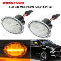 For Fiat 500 Abarth Ford KA LED Side Marker Indicator Repeater Lamp Light 2PCS