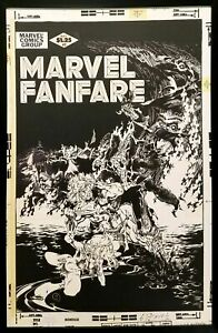Marvel Fanfare #2 by Michael Golden 11x17 FRAMED Original Art Poster Spider-Man