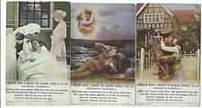 BAMFORTH - SOLDIERS FAREWELL, HOW CAN I BEAR TO LEAVE Set of Song Card Postcards