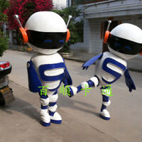 Robot Mascot Costume Outfit Halloween Adult Hot A+ Suit Cosplay Party Game Dress