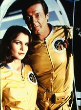 LOIS CHILES & ROGER MOORE in ''Moonraker'' - Original 35mm POSITIVE SLIDE - 1979