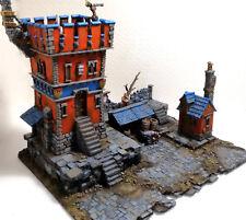 "NEW! WARHAMMER SIGMAR SCENERY-TERRAIN  ""WATCH TOWER OF MORDHEIM CITY"" PAINTED"