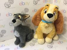Large Disney Store Lady And The Tramp Plush Toys  GIFT