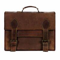 Genuine Leather Tradtional Laptop Handmade Briefcase Bag Satchel Messenger