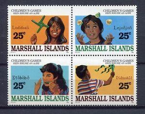 S1939a) Marshall Isl. 1990 MNH Childsren Games 4v