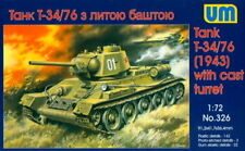 UM 1/72 326 WWII Soviet Red Army T-34/76 Heavy Tank M.1943 with Cast Turret