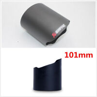Universal 101mm Matte Real Carbon Fiber Car SUV Exhaust Muffler Pipe Tip Cover