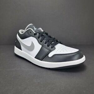 New Nike Air Jordan 1 Low Shadow Black White Grey 553558-040 Men's 12 Free Ship