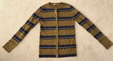 Next Olive Green And Blue Sparkle Stripe Cardigan Size 10
