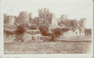 Postcard Caerphilly Castle nr Cardiff Wales posted 1909 RP