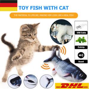 Katzenspielzeug Elektrischer Fisch Graskarpfen Moving Fish Cat Toy Kratzbaum