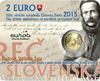 Coincard 2 euros BU SLOVAQUIE 2015 - 200ème Ann de la Naissance de Ludovít Štúr