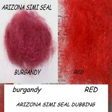 RED Arizona Simi Seal Dubbing ( for tying leeches & buggy nymphs )