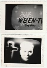 4 Weird Vernacular Snapshot Photos - Bishop Fulton Sheen on Television TV 1953