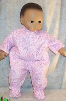 "Doll Clothes Baby Made 2 Fit American Girl 15"" inch Bitty Pajamas Stars Pink"