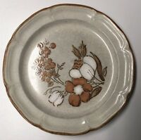 12 Inch Hand-painted Dinner Plate Autumn Fair Baroque Hearthside Stoneware