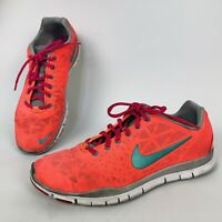 Nike Free TR Fit 3 Womens Orange Coral Lace Up Running Athletic Shoes Size 9.5