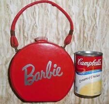Vintage & ULTRA RARE Barbie Red Vinyl Girl's Hatbox Purse  --  Prototype?