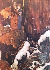 """Edmund DULAC vintage stampa montata, 14 x 11"""", Tempesta di Shakespeare ED12"""