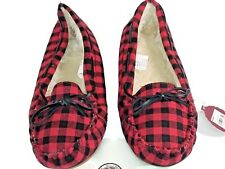 NWT SO Authentic American Heritage Women Checkered Moccasin Slippers 11/12