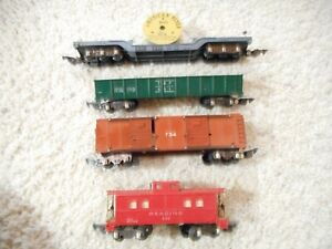 S SCALE AMERICAN FLYER 630, 631, 636 AND 734 OPERATING CARS
