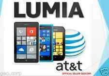 AT&T NOKIA/MICROSOFT Factory Unlock Code LUMIA 640 520 635 830 920 925 1520 ALL