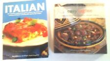 ITALIAN Cook Book and Moroccan Cook Book(3 Books Included)++