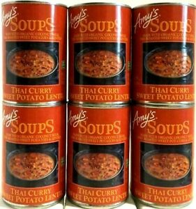 Amy's Organic Thai Curry Sweet Potato Lentil Soup 14.5 oz ( Pack of 6 )