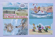 4 Cartes Postale Auteurs / Dessinateur Supplément Journal Spirou - FRANQUIN BD
