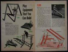 Childrens Playground Equipment How-To build PLANS Jungle Gym-Swing-Slide Wooden