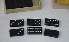 Vintage Soviet Table Game Bakelite Domino in Original Box Marked Retro Art Deco