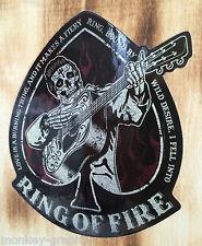 Oldschool Aufkleber Rockabilly Cash Ring on Fire Rock n Roll Sticker USA Retro