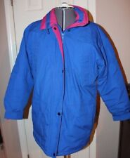 Haband for Her Womens Blue Quilted Nylon Winter Coat size Medium 12/14