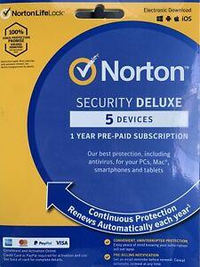 Norton Security Deluxe 5 Devices for Windows, Mac OS, iOS Antivirus (21412803)